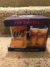 4 MILLER LITE PUB GLASSES in Algonquin, Illinois