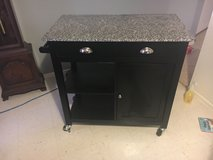 Better Homes and Gardens Kitchen Cart, Black/Granite in Fort Hood, Texas