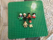 Large LEGO Duplo Baseplate & 6 Minifigures in 29 Palms, California