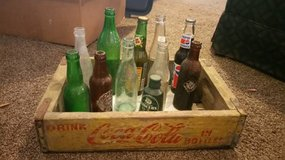 Vintage 1960's Wood Coca-Cola Crate and Collectible Bottles in Moody AFB, Georgia