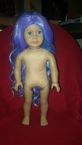 American Girl doll with pretty purple and blue hair in Bolingbrook, Illinois
