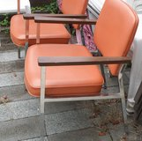 (2) PUMPKIN Chrome Finish Vinyl Chairs - It's a giveaway!!!! in Wilmington, North Carolina