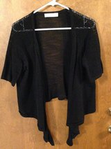 Black knit short sleeve sweater by Faded Glory. - L  (12-14) in Naperville, Illinois