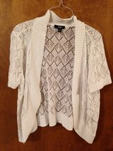 White Knit Short Sleeve Sweater by AGB - XL in Naperville, Illinois