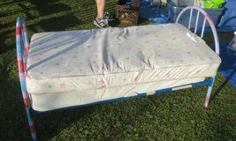 METAL TODDLER BED WITH A MATTRESS in Cherry Point, North Carolina