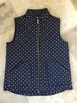 Like NEW Girls Blue Polka Dot Vest from J Crew Size 10-12 in Chicago, Illinois