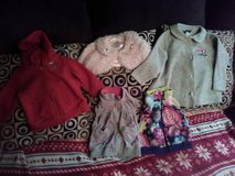 Baby Girl Shrug, Hoodie, Vests and fleece jacket sz 3 months-3T in Fort Campbell, Kentucky