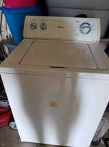 Armana washer works it just doesn't drain all the way other than that it works in Lawton, Oklahoma