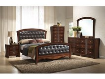 NEW WOOD 6 PC  BEDROOM SET  $40.00 Down. Take Home Today!! in Byron, Georgia