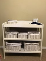 Baby Changing Table with Six Storage Baskets and Liners and Two Changing Mat Liners in Macon, Georgia