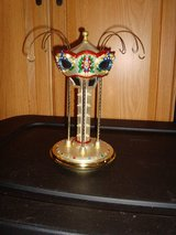 2002 Waterford Society Members Holiday Heirloom Carousel Ornament Stand #121627 in Orland Park, Illinois