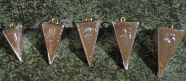 Pryamid Sinkers - 5pc set in Fort Leonard Wood, Missouri
