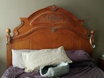 King size bed, Armoire,  nightstand in DeKalb, Illinois