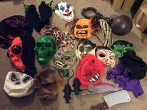 Halloween masks. in Lakenheath, UK