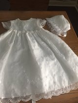 Christening Baptism Dress - 6-9 Months - With Hat in Glendale Heights, Illinois