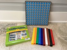 Unifix 100 Colorful Counting Cubes + Number Grid in Lockport, Illinois