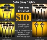 Solar Stake Lights for garden, yard, lawn in Tinley Park, Illinois