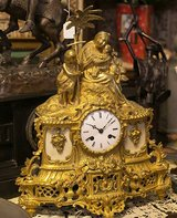 ANTIQUE FRENCH PENDULUM / MANTEL CLOCK MOTOV: FLIGHT FROM EGYPT 1840 in Wiesbaden, GE