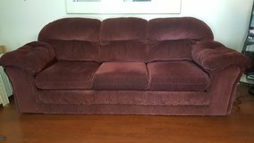 Burgundy Couch & Chair Set in Clarksville, Tennessee