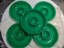 3 Green Chip n Dip Party Platter Plate in Clarksville, Tennessee