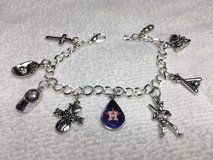 Houston Asros Charm Bracelet Stainless Steel Adjustable in Kingwood, Texas