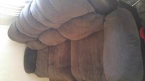 Brown microfiber\Leather couch in Fairfield, California