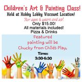 Childrens art and painting classes in El Paso, Texas