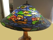 Tiffany 23 In. Art Glass MColor Style Large Dome Shape Lamp Shade - Fits Table Base in Wilmington, North Carolina