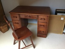 Cherry antique desk and chair in Ramstein, Germany