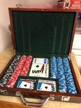 Deluxe Poker Chip & Card Set in Wooden Box in Aurora, Illinois