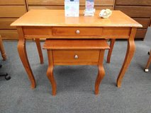 behind table or desk and side accent table in Orland Park, Illinois