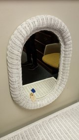 White wicker mirror in Bolingbrook, Illinois