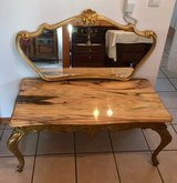 Marble Table / Coffee Table / Vintage Floral Inlay / Side table / Corner table in Ramstein, Germany