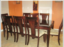 Formal dining table with 8 chairs in Baytown, Texas