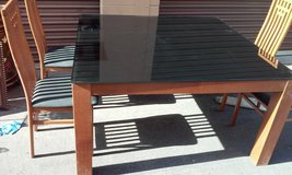 Smoke Glass Table & 4 Chairs in Nellis AFB, Nevada