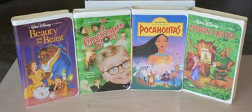 Kids Disney vhs movies in The Woodlands, Texas