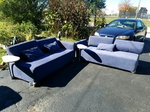 Blue couches in Elgin, Illinois
