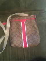 Authentic Coach Purse (Pink & Khakie leather) in Spangdahlem, Germany