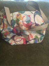 Authentic Coach Purse (Large)  white, purple, pink, blue, green in Spangdahlem, Germany