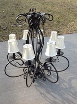 Large Foyer Chandelier - 8 Lights with Shades, Bronze Finish in St. Charles, Illinois