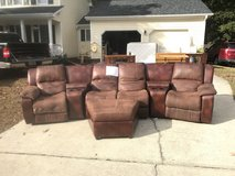 Leather Couch price reduced in Fort Bragg, North Carolina