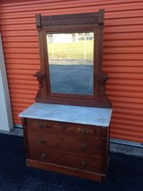 1800's Walnut Victorian Dresser.  , Marble Top in Cherry Point, North Carolina