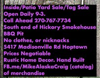 Yard-Tag Sale Daily 9-3 in Hopkinsville, Kentucky
