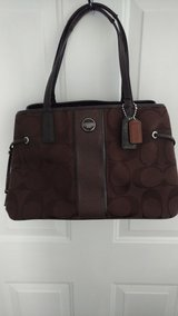 COACH PURSE HANDBAG  DARK BROWN LIKE NEW AUTHENTIC  PLAINFIELD in Bolingbrook, Illinois