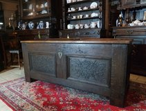 rustic antique tiger oak hope chest in Ramstein, Germany