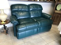 Green Faux Leather Loveseat in Naperville, Illinois