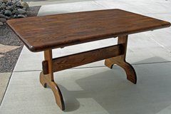 SOLID OAK TRESTLE TABLE in Temecula, California