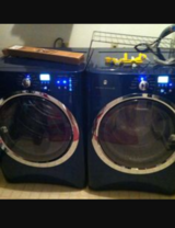 Blue electrolux washer and dryer in Colorado Springs, Colorado