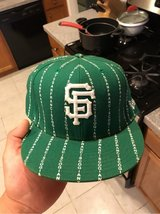 Green SF Giants New Era hat Size 8. worn only once. in Travis AFB, California