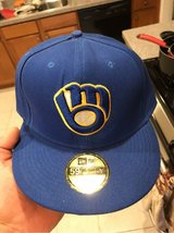 Milwaukee Brewers NewEra Size 8 worn once in Travis AFB, California